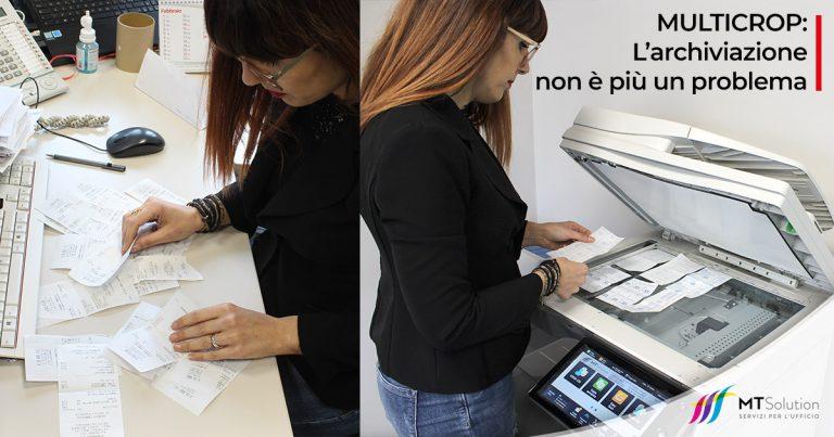 funzione multicrop stampanti sharp l'archiviazione documentale degli scontrini non è più un problema